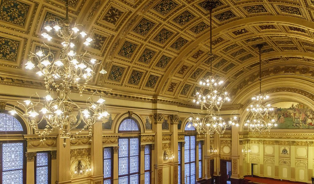 Glasgow City Chambers Banqueting Hall where the Glasgow Guarantee Celebration Event on 30th November will include the winner of the Graduate Employee of the Year 2016