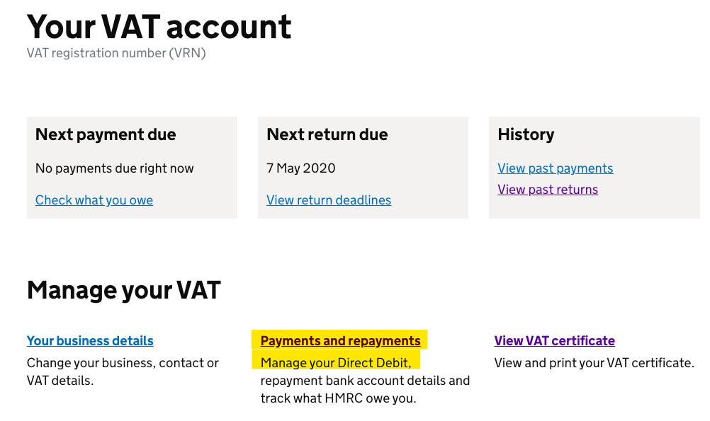Deferred VAT Payment Cancel DDI 1