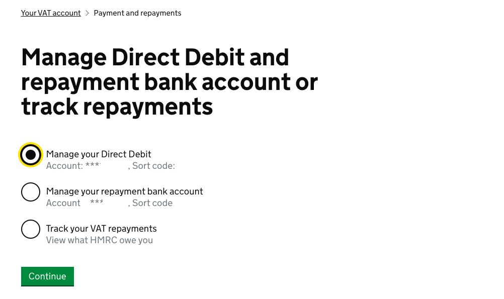 Deferred VAT Payment Cancel DDI 2