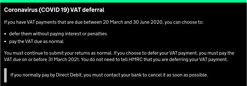 VAT Direct Debit