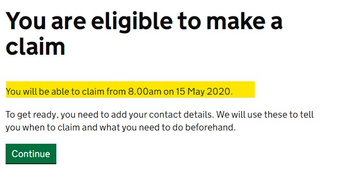 Check your SEISS eligibility - You are eligible with date