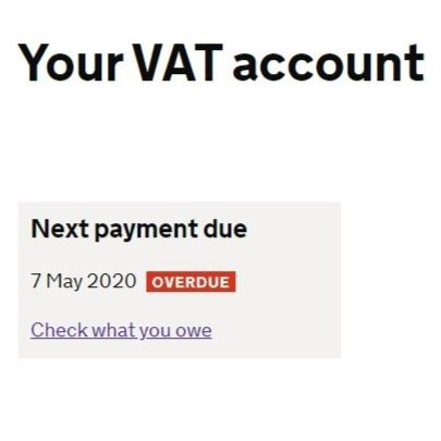 More time to pay VAT
