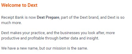 Dext Prepare - new name for Receipt Bank