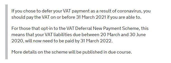set up a manual VAT payment if you chose to defer your VAT