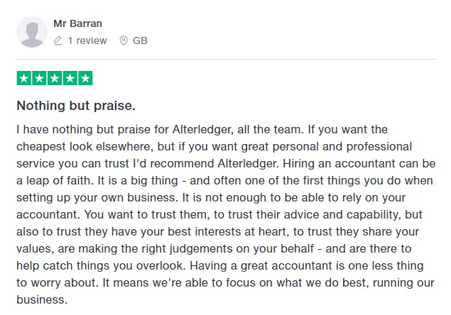 Mr Barran 5 star review
