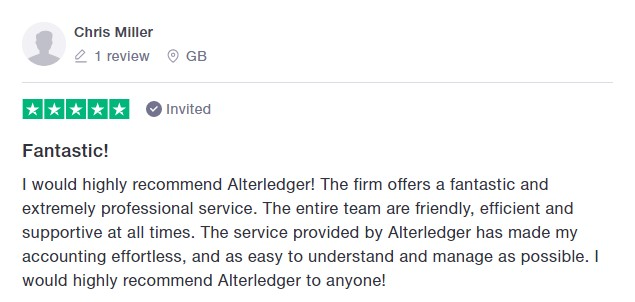 Trustpilot 5 star review Chris Miller