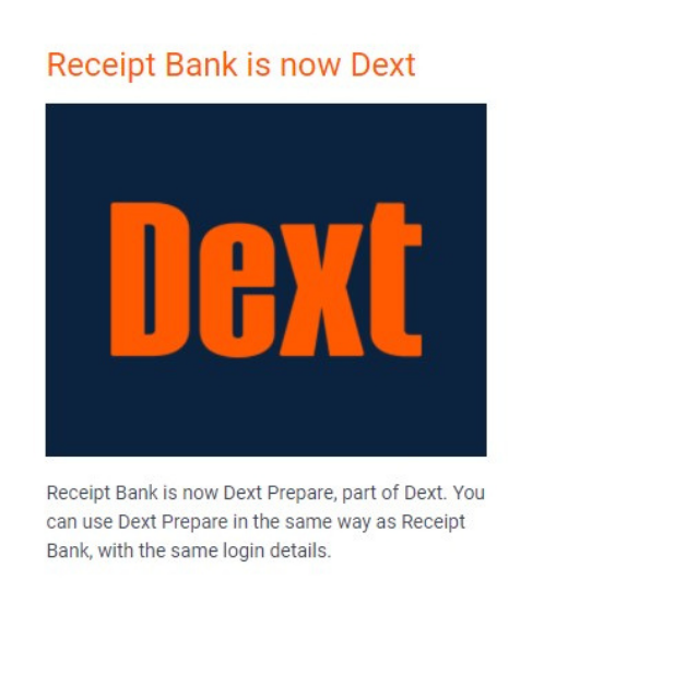 Receipt Bank is now Dext